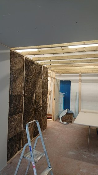 insulation of the picture assembly room | Neil Warner Pictures | Bristol picture framers