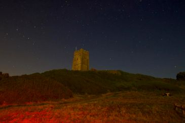MC 19 028 - Wembury church - night sky - stock photography - buy stock