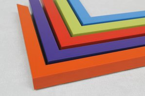 Colour cubes frames | bespoke frame design| low-cost picture frames
