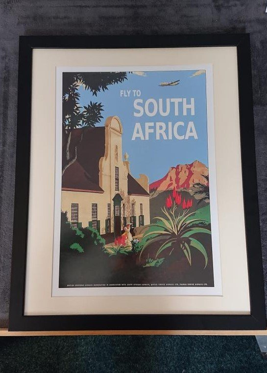 Vintage poster from South Africa framed with care by our framer