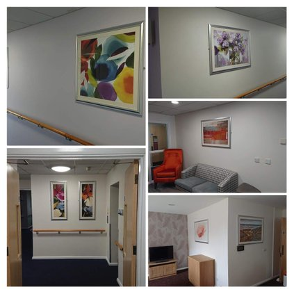 installation of framed artprints - professional picture framing service