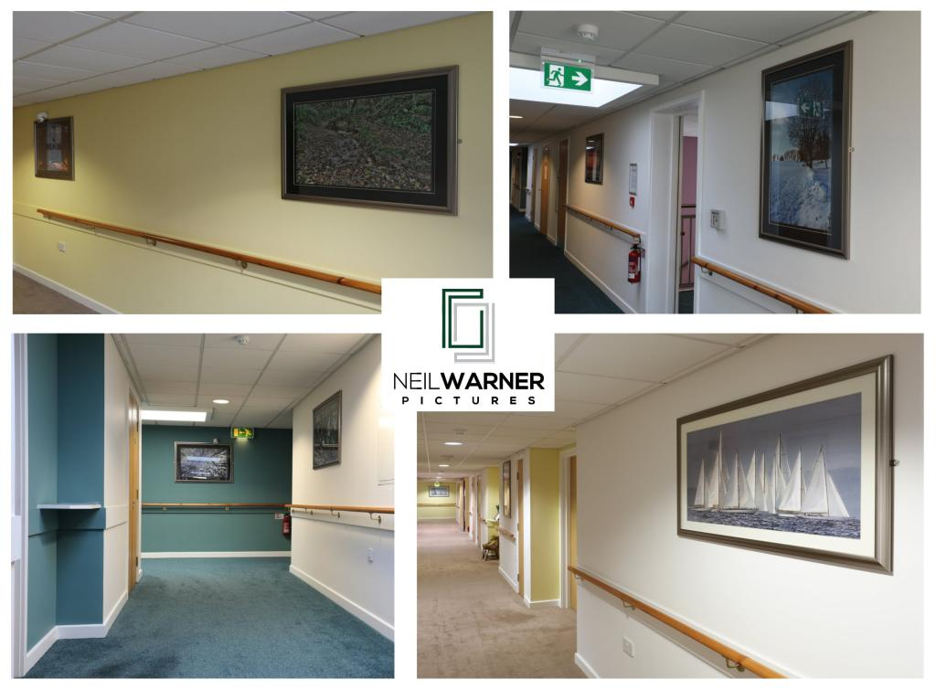 Installation of framed pictures for Housing and Care 21 - 2017