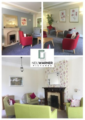 Installation of framed art prints and mirror for Housing and Care 21 | Neil Warner Pictures | Picture framing and stock library services
