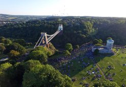 aerial photography  | Bristol Suspension bridge | Balloon fiesta | bespoke picture frames | online photo library for interior design