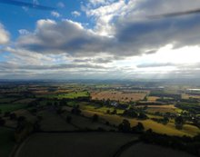 Meeting with the clouds | Ref : JW 010| aerial photography | cloudscape | green scenery | photo library | Neil Warner Pictures