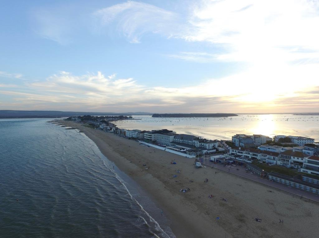 Peninsula II  | Ref: JW 018 | aerial photography | bournemouth | beach | sunset | personalised picture frames Bristol