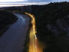 Road | Ref: JW 022 | aerial photography | River Avon | Bristol from above | sunset | art design | photo library "