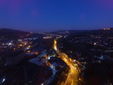 City lights | Ref : JW 044 | aerial photography | Bristol City by night | stock photo library | picture frames Bristol