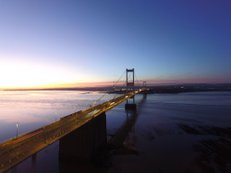 Ref : JW 063 | Sunset | view of the severn bridge at Sunset | high light contrast | art framing