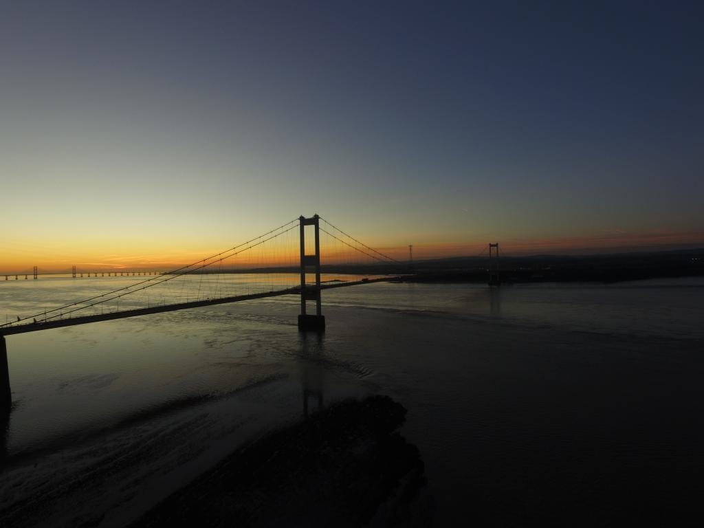 Ref : TW 064 | Severn Bridge serie | view of the Severn Bridge at Sunset | stock photography