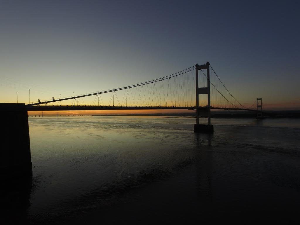 Ref : TW 065 | Severn Bridge serie | view of the Severn Bridge at Sunset | landscape photography