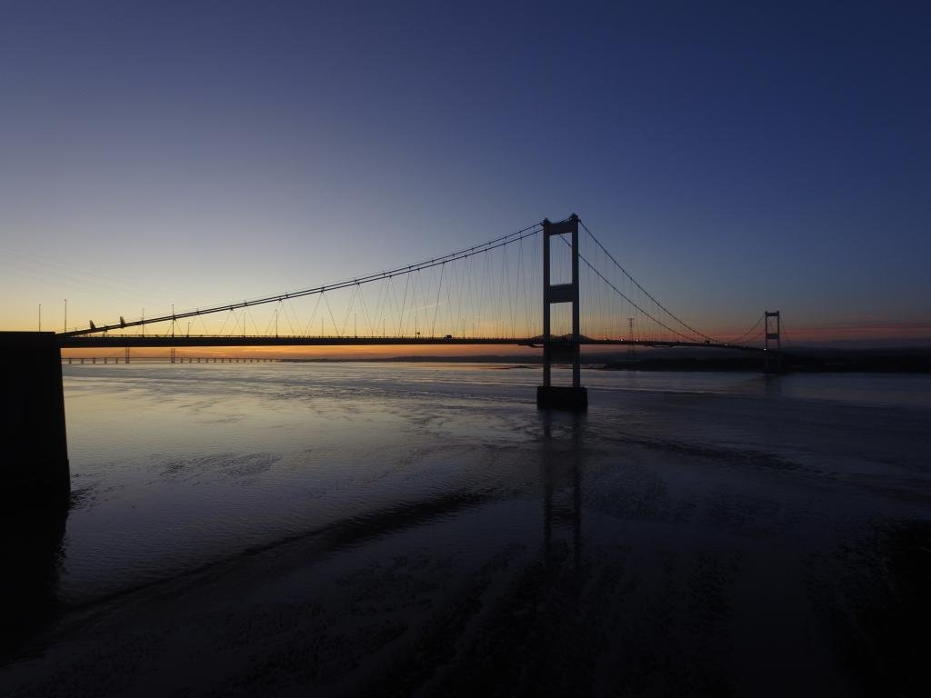 Ref : TW 067 | Severn Bridge serie | view of the Severn Bridge at Sunset | lanscape photography | drone | picture library