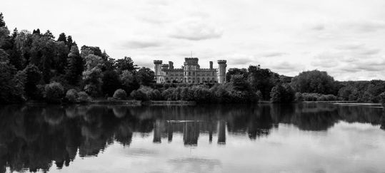 TC 19 012 - Eastnor Castle  - black and white photography - art design